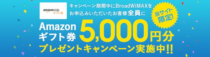 BroadWiMAXアマゾンギフト